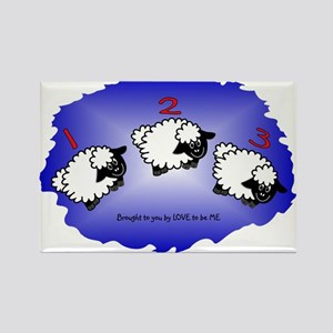 SHEEP JUMPING - LOVE TO BE ME Rectangle Magnet